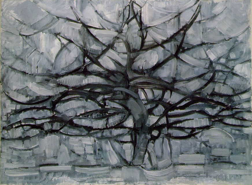 Mondrian's Gray Tree (1911)